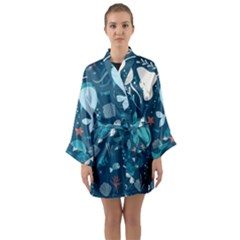 Cool Sea Life Pattern Long Sleeve Kimono Robe by allthingseveryday