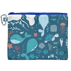 Cool Sea Life Pattern Canvas Cosmetic Bag (xxl) by allthingseveryday