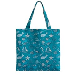 Fun Everyday Sea Life Grocery Tote Bag by allthingseveryday