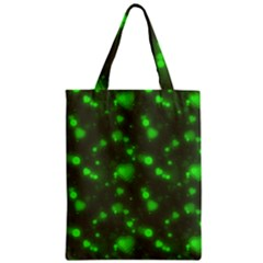 Neon Green Bubble Hearts Zipper Classic Tote Bag