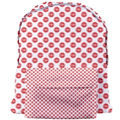 Sexy Red And White Polka Dot Giant Full Print Backpack by PodArtist