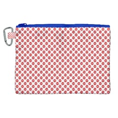 Sexy Red And White Polka Dot Canvas Cosmetic Bag (xl) by PodArtist
