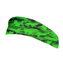 Bright Neon Green Catmouflage Stretchable Headband by PodArtist