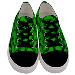 Bright Neon Green Catmouflage Men s Low Top Canvas Sneakers
