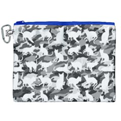 Black And White Catmouflage Camouflage Canvas Cosmetic Bag (xxl) by PodArtist
