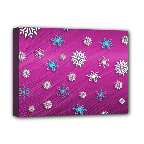 Snowflakes 3d Random Overlay Deluxe Canvas 16  X 12   by Celenk