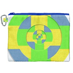 Fabric 3d Geometric Circles Lime Canvas Cosmetic Bag (xxl) by Celenk