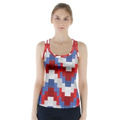 Texture Textile Surface Fabric Racer Back Sports Top by Celenk