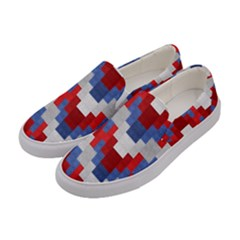 Texture Textile Surface Fabric Women s Canvas Slip Ons by Celenk