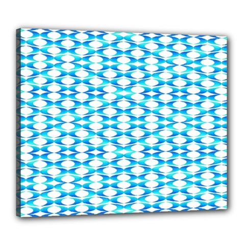 Fabric Geometric Aqua Crescents Canvas 24  X 20  by Celenk