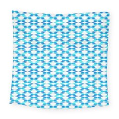 Fabric Geometric Aqua Crescents Square Tapestry (large) by Celenk