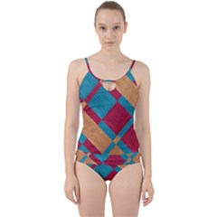 Fabric Textile Cloth Material Cut Out Top Tankini Set