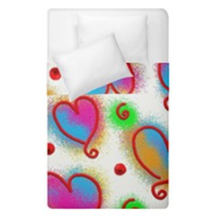 Love Hearts Shapes Doodle Art Duvet Cover Double Side (single Size)