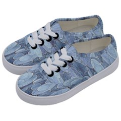 Bubbles Texture Blue Shades Kids  Classic Low Top Sneakers by Celenk