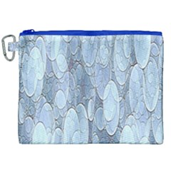 Bubbles Texture Blue Shades Canvas Cosmetic Bag (xxl) by Celenk
