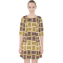 Textile Texture Fabric Material Pocket Dress by Celenk