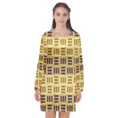 Textile Texture Fabric Material Long Sleeve Chiffon Shift Dress