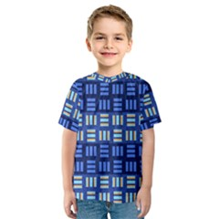 Textiles Texture Structure Grid Kids  Sport Mesh Tee