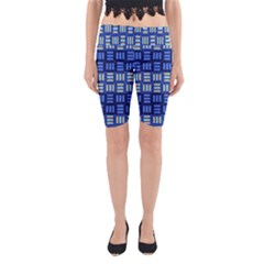 Textiles Texture Structure Grid Yoga Cropped Leggings by Celenk