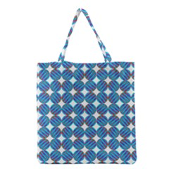 Geometric Dots Pattern Rainbow Grocery Tote Bag