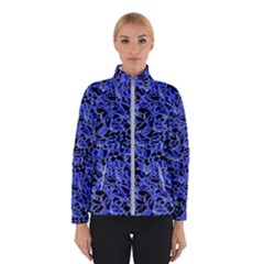 Texture Structure Electric Blue Winterwear by Celenk