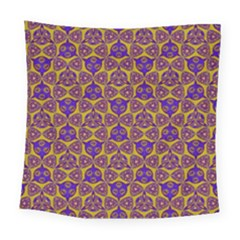 Sacred Geometry Hand Drawing 2 Square Tapestry (large) by Cveti