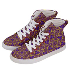 Sacred Geometry Hand Drawing 2 Men s Hi-top Skate Sneakers by Cveti
