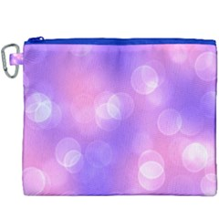 Soft Lights Bokeh 1 Canvas Cosmetic Bag (xxxl) by MoreColorsinLife