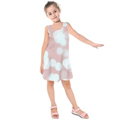 Soft Lights Bokeh 5 Kids  Sleeveless Dress by MoreColorsinLife