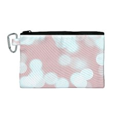 Soft Lights Bokeh 5 Canvas Cosmetic Bag (medium) by MoreColorsinLife