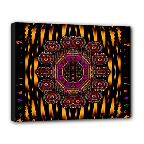 A Flaming Star Is Born On The  Metal Sky Canvas 14  X 11  by pepitasart