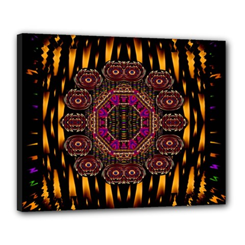 A Flaming Star Is Born On The  Metal Sky Canvas 20  X 16  by pepitasart