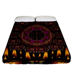 A Flaming Star Is Born On The  Metal Sky Fitted Sheet (queen Size) by pepitasart