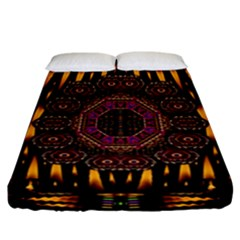 A Flaming Star Is Born On The  Metal Sky Fitted Sheet (california King Size) by pepitasart