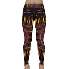 A Flaming Star Is Born On The  Metal Sky Classic Yoga Leggings by pepitasart