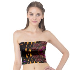 A Flaming Star Is Born On The  Metal Sky Tube Top by pepitasart