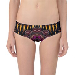 A Flaming Star Is Born On The  Metal Sky Classic Bikini Bottoms by pepitasart