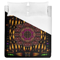A Flaming Star Is Born On The  Metal Sky Duvet Cover (queen Size) by pepitasart