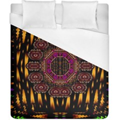 A Flaming Star Is Born On The  Metal Sky Duvet Cover (california King Size) by pepitasart