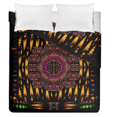 A Flaming Star Is Born On The  Metal Sky Duvet Cover Double Side (queen Size) by pepitasart