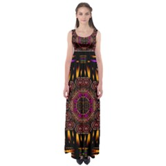 A Flaming Star Is Born On The  Metal Sky Empire Waist Maxi Dress by pepitasart