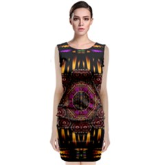 A Flaming Star Is Born On The  Metal Sky Classic Sleeveless Midi Dress by pepitasart