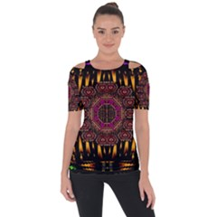 A Flaming Star Is Born On The  Metal Sky Short Sleeve Top by pepitasart
