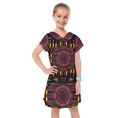 A Flaming Star Is Born On The  Metal Sky Kids  Drop Waist Dress by pepitasart