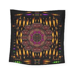 A Flaming Star Is Born On The  Metal Sky Square Tapestry (small) by pepitasart