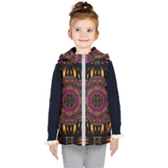 A Flaming Star Is Born On The  Metal Sky Kid s Puffer Vest by pepitasart