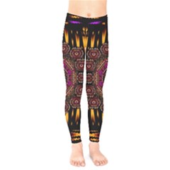 A Flaming Star Is Born On The  Metal Sky Kids  Legging by pepitasart