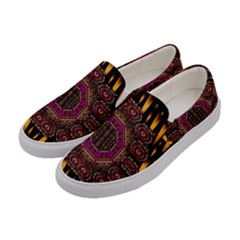 A Flaming Star Is Born On The  Metal Sky Women s Canvas Slip Ons by pepitasart