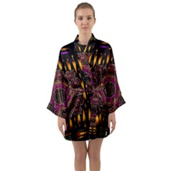A Flaming Star Is Born On The  Metal Sky Long Sleeve Kimono Robe by pepitasart