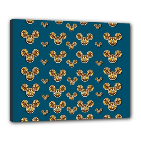 Cartoon Animals In Gold And Silver Gift Decorations Canvas 20  X 16